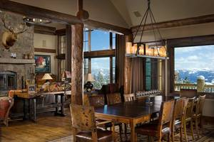 Yellowstone Club architectural photography of a custom log home