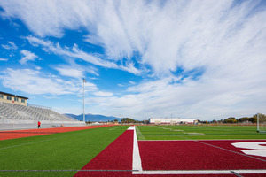 Hamilton Highschool stadium in Hamilton, Montana