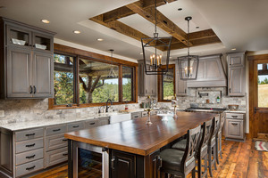 Custom Home Kitchen Architectural Beams